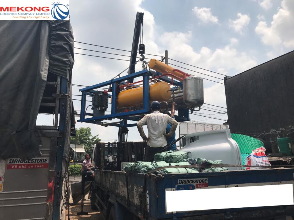 mekong logistics vận chuyển hàng máy móc đi campuchia