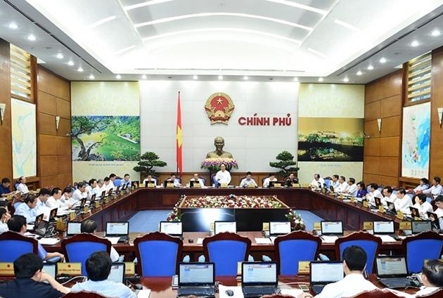 Quang cảnh phiên họp Chính phủ thường kỳ tháng 8/2020