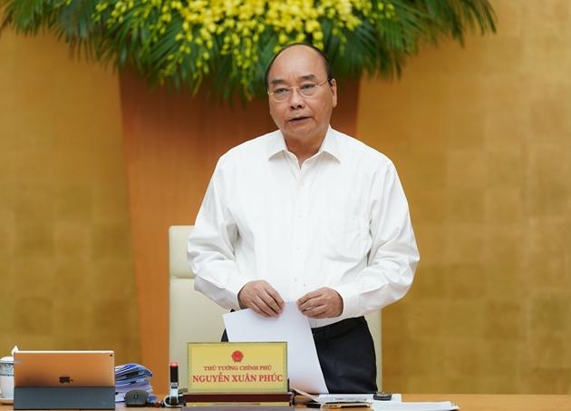 Thủ tướng Nguyễn Xuân Phúc phát biển tại phiên họp