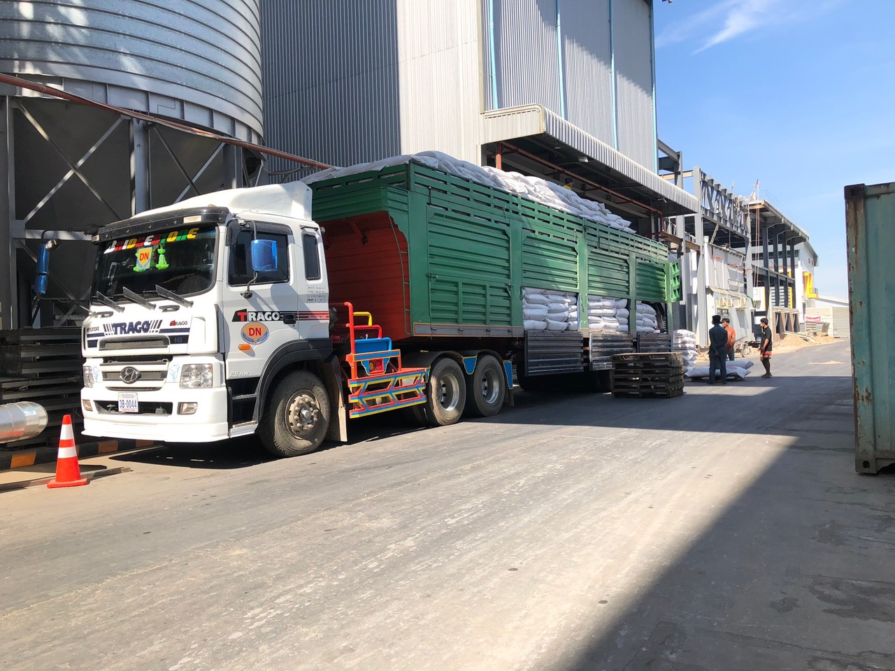 Mekong Logistics vehicles delivered at a factory in Cambodia